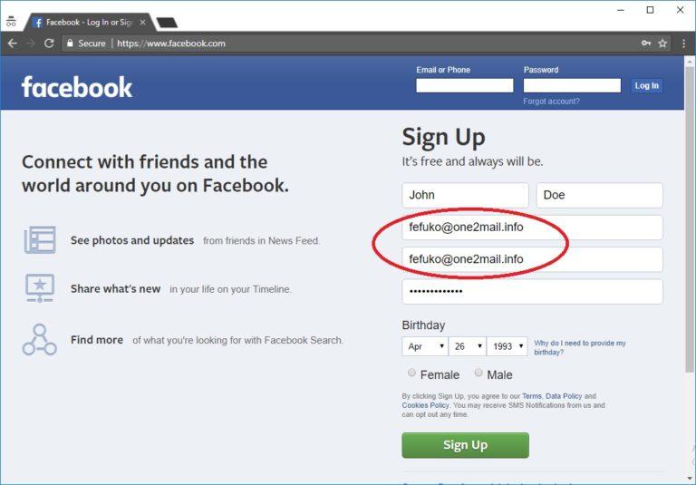 Erstellen Sie ein Facebook-Konto ohne Telefonnummer und E